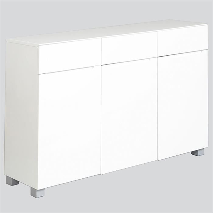 meuble chaussures monza laqu brillant blanc achat. Black Bedroom Furniture Sets. Home Design Ideas