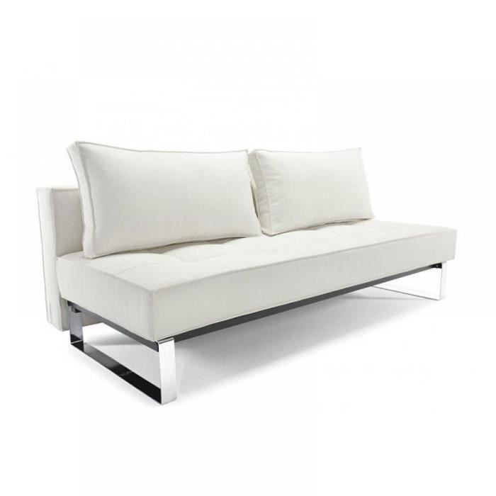 canap lit design supreme deluxe blanc convertibl achat vente canap sofa divan. Black Bedroom Furniture Sets. Home Design Ideas
