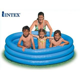 Piscine gonflable enfant Intex CRYSTAL bleue 168cm - Achat ...
