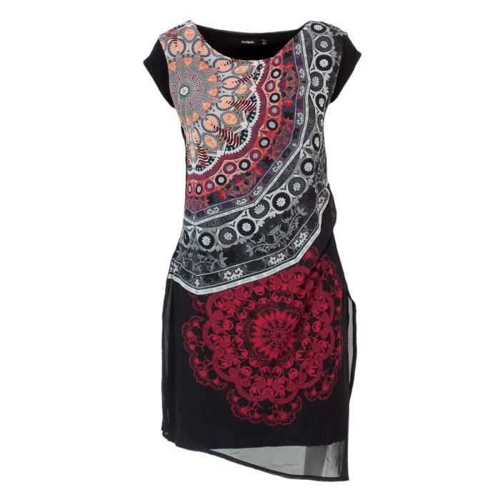 Desigual Femme 18wwvw62black Noir Polyester Robe Noir Achat Vente Robe Cdiscount