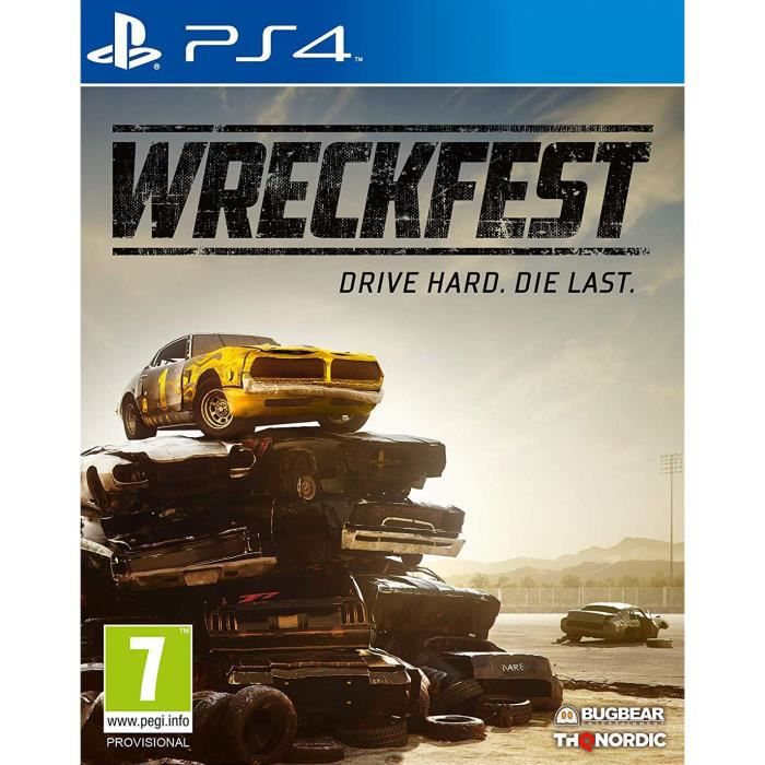 JEU NINTENDO SWITCH Wreckfest Jeu PS4 + 1 Porte Clé Offert