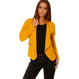 blazer jaune femme achat vente blazer jaune femme pas cher cdiscount. Black Bedroom Furniture Sets. Home Design Ideas