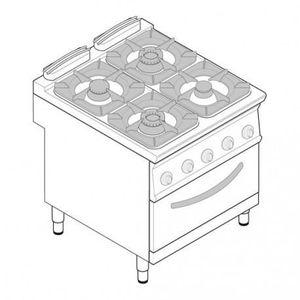 CUISINIÈRE - PIANO Piano de cuisson gaz sur four électrique ventilé G
