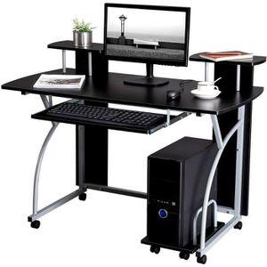 MEUBLE INFORMATIQUE Table pour ordinateur Bureau meuble PC Table de tr