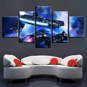 TABLEAU - TOILE (sans un cadre) 5 Pièces Star Wars Peinture Pour S