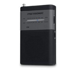RADIO CD CASSETTE Metronic 477214 Radio Portable FM de Poche - Gris