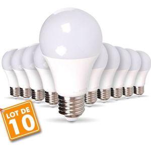 AMPOULE - LED Lot de 10 Ampoules LED E27 9W eq 60W 806lm Blanc N
