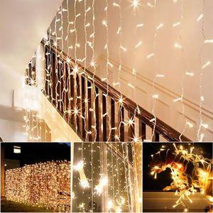 GUIRLANDE LUMINEUSE INT Guirlande Lumineuse Rideau - 300 LED - 8 Mode d'éc