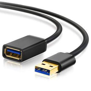 CÂBLE INFORMATIQUE Juce® 2M USB 3.0 Câble d'Extension Mâle A vers Fem