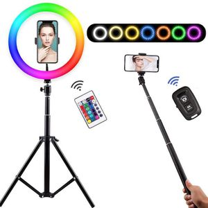 LED Lumi/ère Anneau Tr/épied Luminosit/é Ajustable pour Support pour Smartphone//Photo//Maquillage