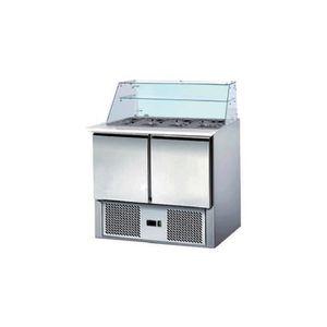 ARMOIRE RÉFRIGÉRÉE Saladette réfrigérée avec vitrine - 2 portes
