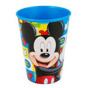 Verre à eau - Soda Gobelet Mickey verre plastique Disney enfant carre