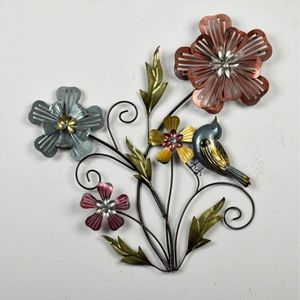 Deco murale metal fleur for Decoration murale objet