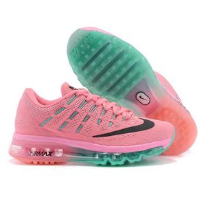 best service 100% genuine new list Nike Air Max 2016 Femmes Baskets Chaussures de running rose vert ...