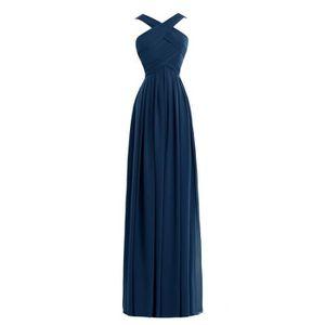 ROBE DE CÉRÉMONIE Bleu marin Robe Demoiselle d'Honneur Soirée Cockta