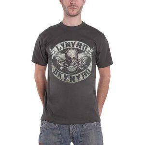 T-SHIRT Lynyrd Skynyrd T Shirt Biker Patch Skull Band Logo