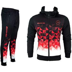 Ensemble de vêtements JOGGING AMG MERCEDES noir blanc rouge survetement