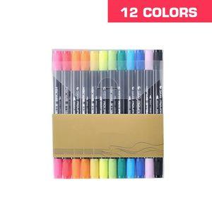 Stylo de Pinceau STA Aquarelle Solubilit/é Kit Marqueur de Pinceau Color/é de Peinture de Calligraphie Douce pour les Artistes Aquarelle Croquis Coloration 12//24//36 Pcs en Option 12 pcs