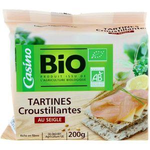 BISCUITS DIÉTÉTIQUES Tartines croustillantes seigle bio - 200g