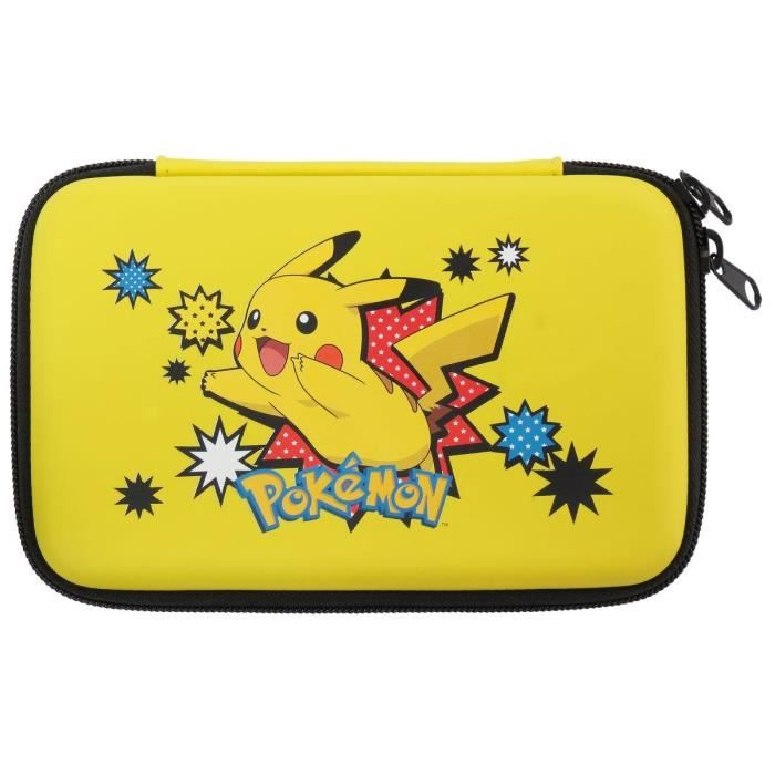 Sacoche rigide pikachu new 3ds xl achat vente housse for Housse 2ds pokemon