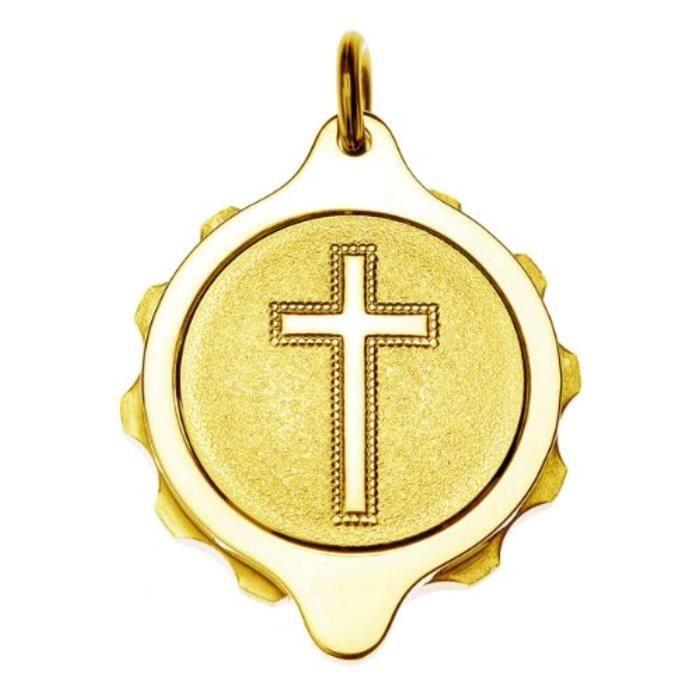 Pendentif Vendu Seul XXVWW Pendentif plaqué or Femmes - Croix chrétienne