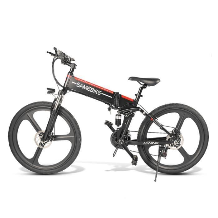 Vélo électrique Samebike LO26 48V 350w -21 vitesses - pliable-10AH E Bike Moteur de vélo vtt - Noir