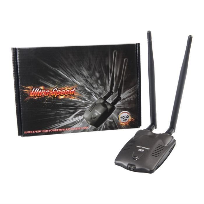 150Mbps haute puissance Carte Usb Adaptateur réseau sans fil Accueil externe double antenne @duo3841