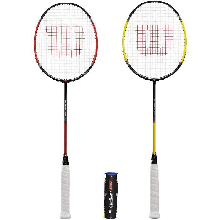 Wilson Fluo Pro Raquettes de badminton + volants (différentes options)