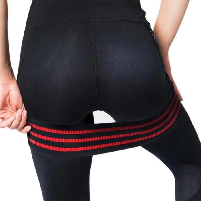 Bandes de Yoga Pilates Puissance Hanches Exercice Élastiques Ceinture Sport Fitness Pratique Maison, Rouge Bande de Résistance-M