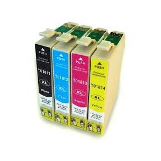 Pack de 4 cartouches d encre T18 XL pour imprimantes EPSON Expression Home XP215