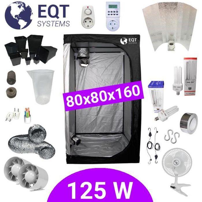 Pack Tente CFL 125W Grow&Bloom 80x80 + Supacrop