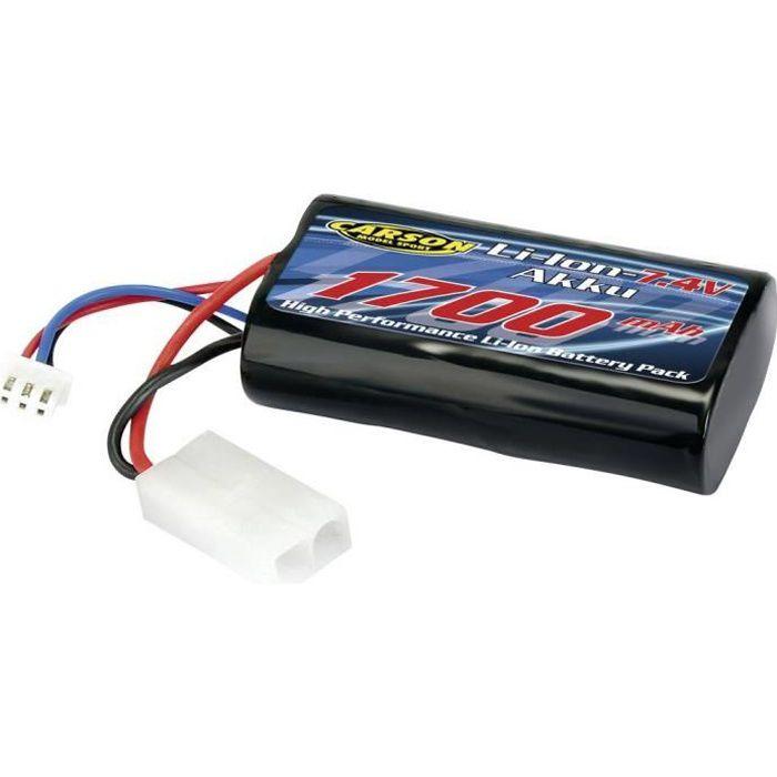 Pack de batterie (LiPo) 7.4 V 1700 mAh Carson Modellsport 500608139 Nbr de cellules: 2 Softcase Tamiya 1 pc(s)
