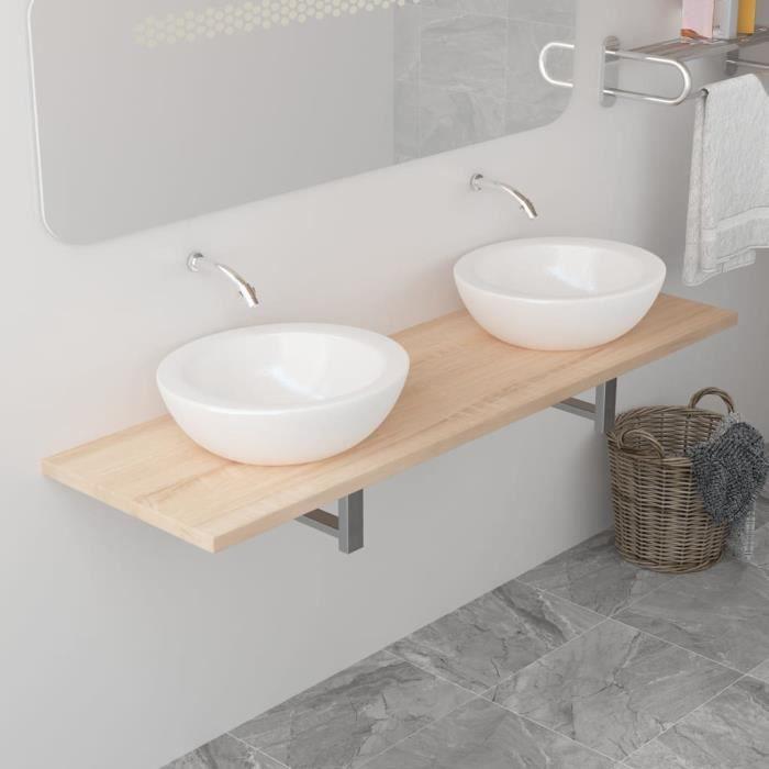 Magnifique-Colonne de salle de bain-Meuble salle de bain - Rangement salle de bain - Armoire Toilette - Colonne rangement - Chêne