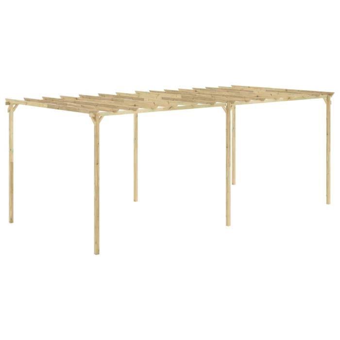 Pergola de jardin Tente de jardin Arches, treillages Gloriette 588x294x220 cm Bois de pin imprégné