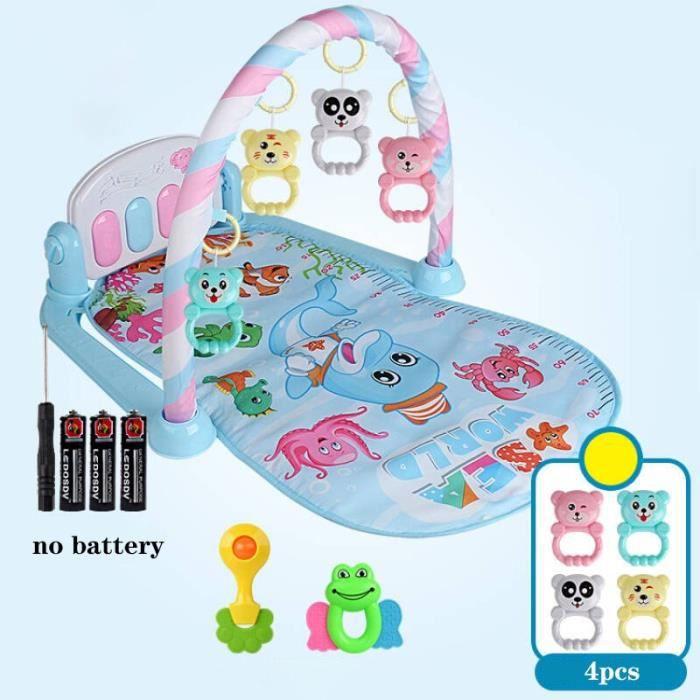 Tapis d'éveil,Tapis de jeu bébé 3 en 1 jouets de gymnastique bébé éclairage doux hochets jouets musicaux pour bébés jouets - Type I