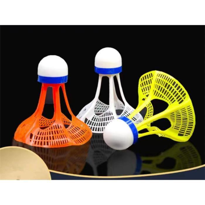 3 pcs Volant badminton,Balles Badminton en Plastique(Windbreak Design)