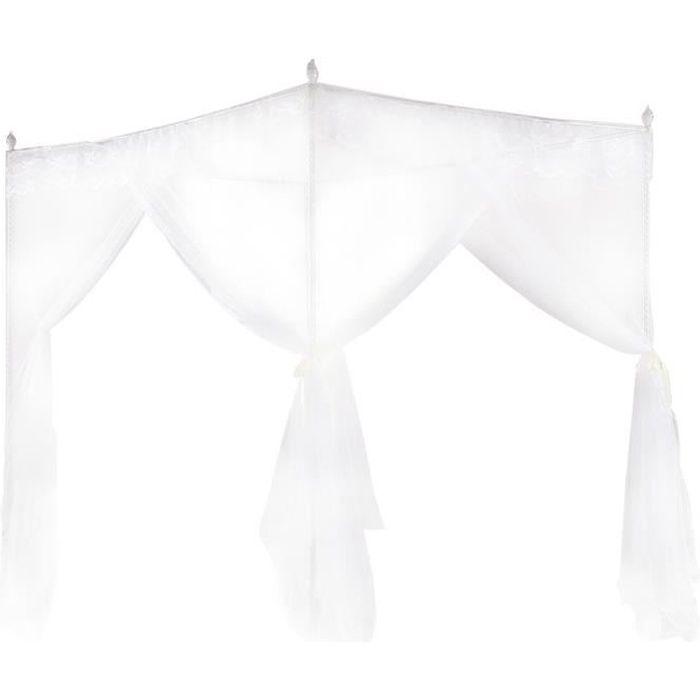 EBTOOLS rideau de lit Luxe princesse trois ouvertures latérales post lit rideau à baldaquin filet moustiquaire literie (S)