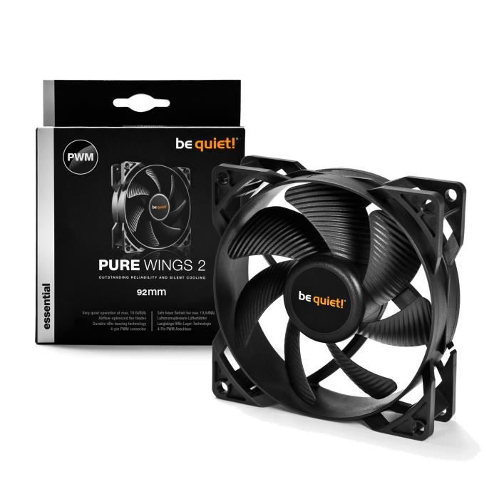 Be Quiet Ventilateur de boîtier PURE WINGS 2 - PWM 92mm