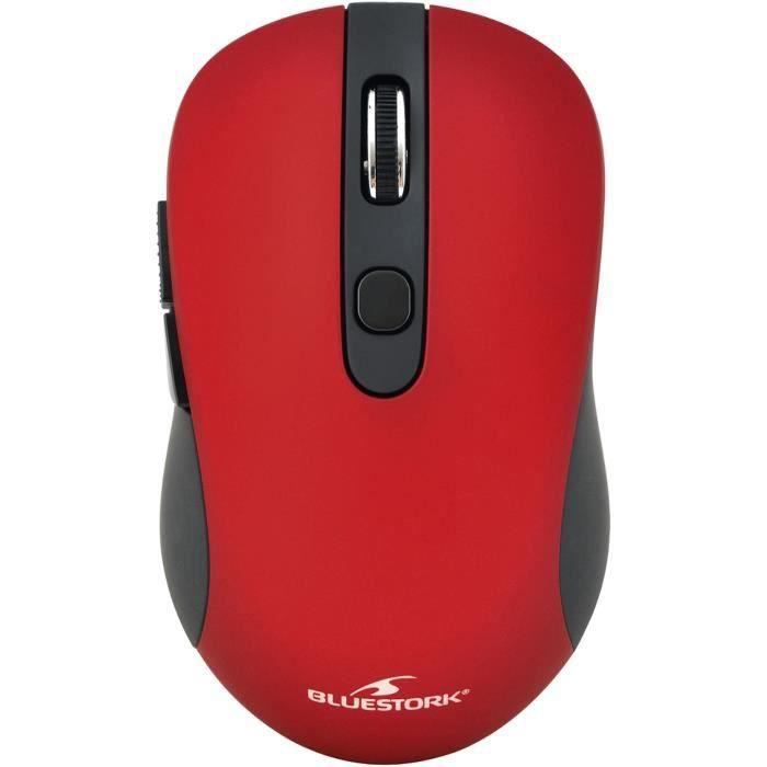 Souris Sans Fil 2,4 Ghz bouttons Rouge