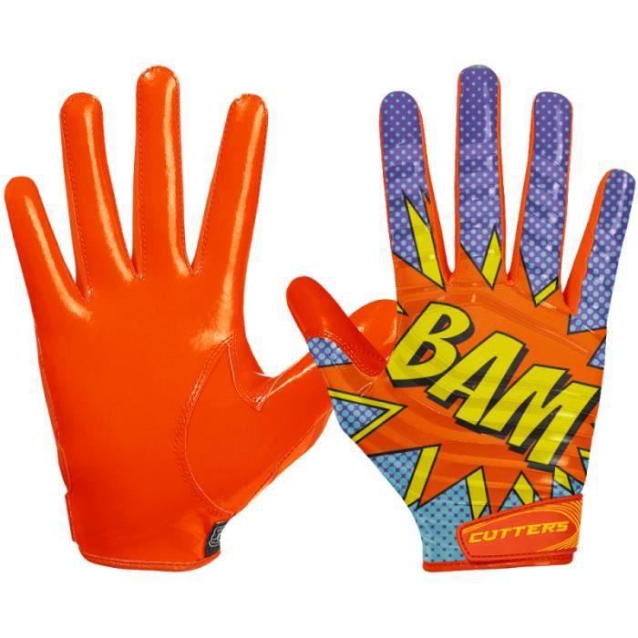 Gant de football américain Cutters S252 Edition Limitée Bam Orange pour Enfant