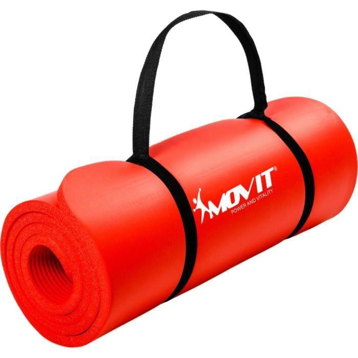 MOVIT Tapis de gymnastique 183cm x 60cm x 1,0cm, Rouge