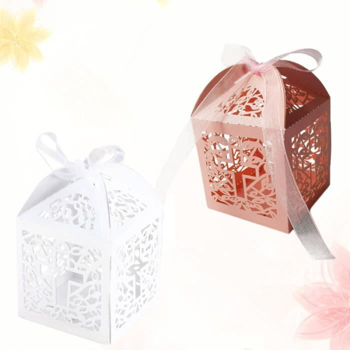 100pcs Unique Candy Box Creative Hollow-out Cases Lovely Small Gift Chocolate for Kids confiserie de sucre - bonbon confiserie