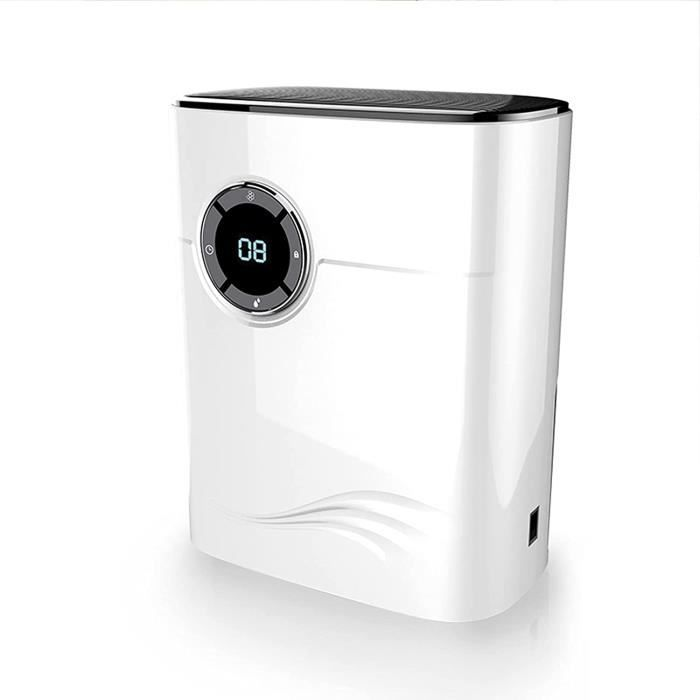 RUMOCOVO®Déshumidificateur,Déshumidificateur d'air électrique, arrêt automatique 1200ML, silencieux, résistant à l'humidité, White