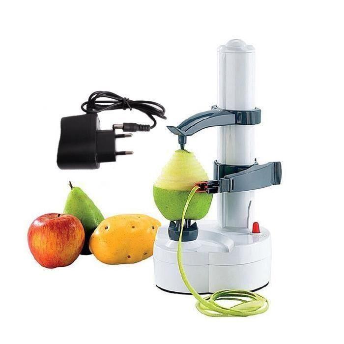 Multifonction Éplucheur Automatique Électrique Pour Fruits Et Légumes Avec Adapteur