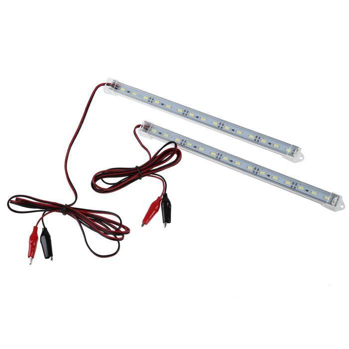 4x 12v 5630 led voiture bande lumières intérieur barre lampe van caravane PS