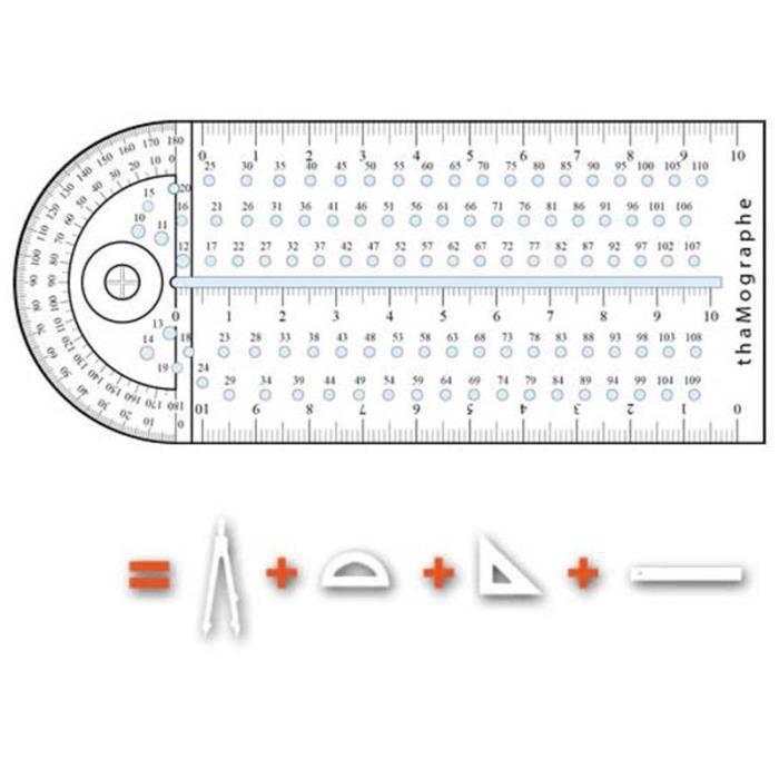 Blanc instrument de tra/çage et de mesure innovant et revolutionnaire ThaMographe