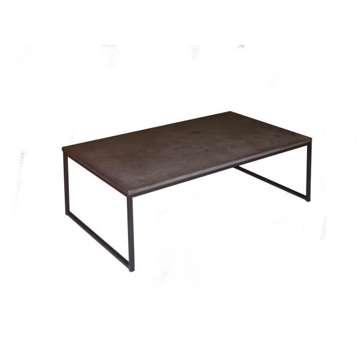 Table basse plateau finition b ton cir gris anthracite for Table basse gris anthracite