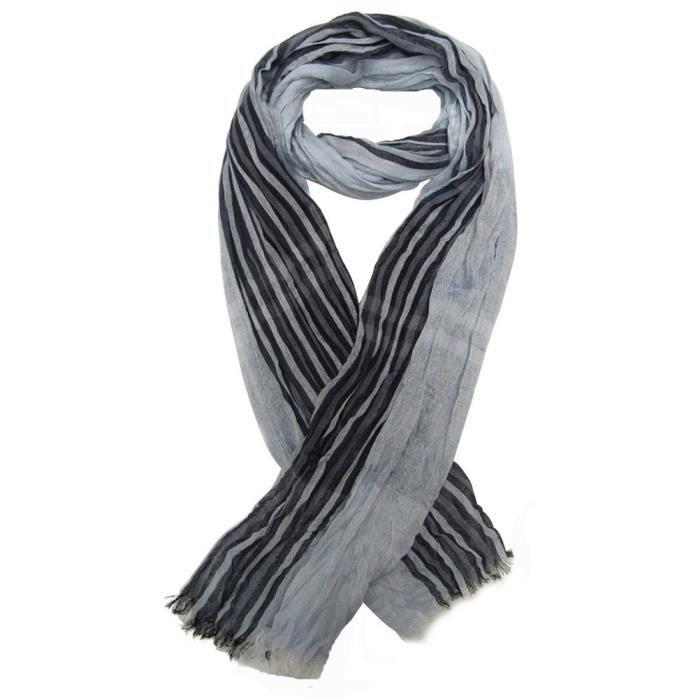 chèche écharpe pour homme bordeau et noir 180 x 60 cm. Foulard