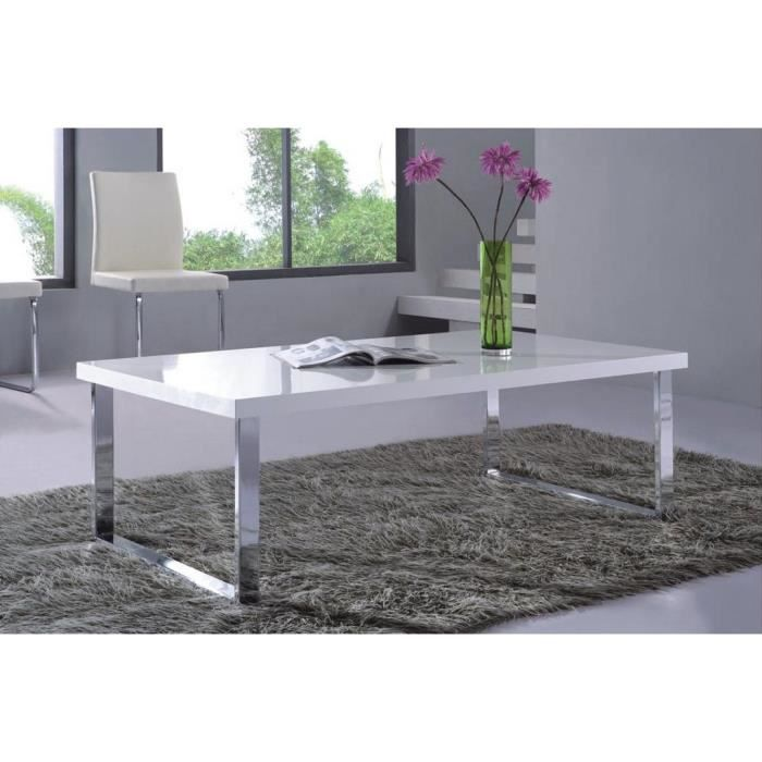 lorane table basse moloo laqu e blanc achat vente. Black Bedroom Furniture Sets. Home Design Ideas