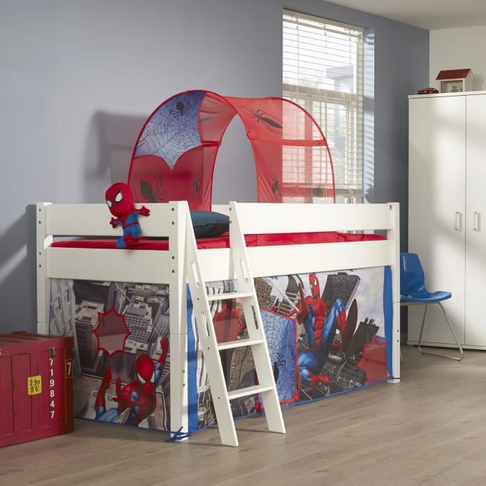 lit mi hauteur pour enfant design spiderman achat. Black Bedroom Furniture Sets. Home Design Ideas